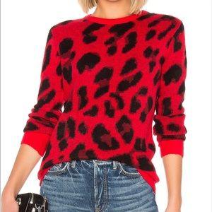 Lovers + Friends Speak Up Sweater Red Leopard